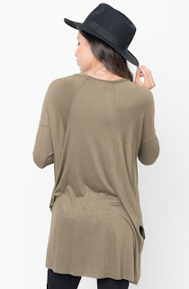 Buy Now Olive Raglan Long Sleeve Tunic Online $28