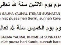 Contoh Bacaan Niat Puasa Sunah Senin-Kamis Dalam Bahasa Arab Dan Indonesia