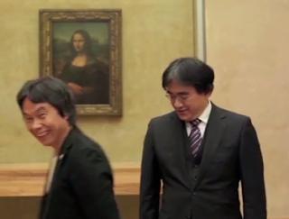 Miyamoto Iwata Louvre Paris France Nintendo Direct 2013