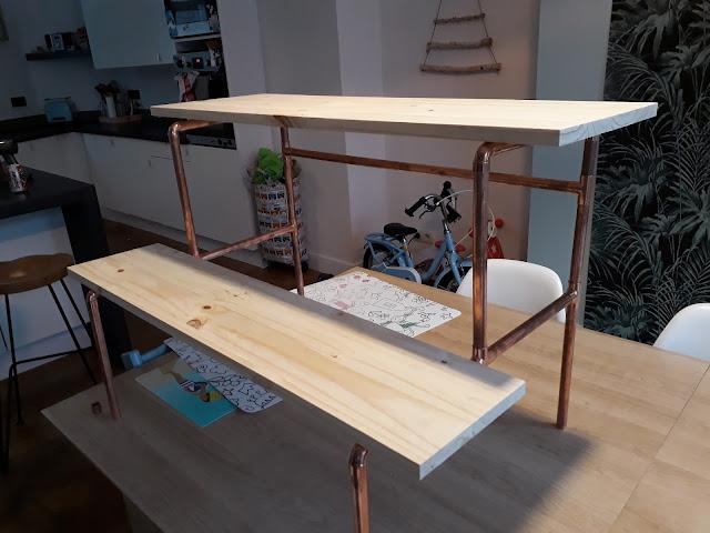 fabriquer un bureau pour enfant en cuivre