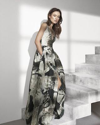 vestido largo con estampado africano