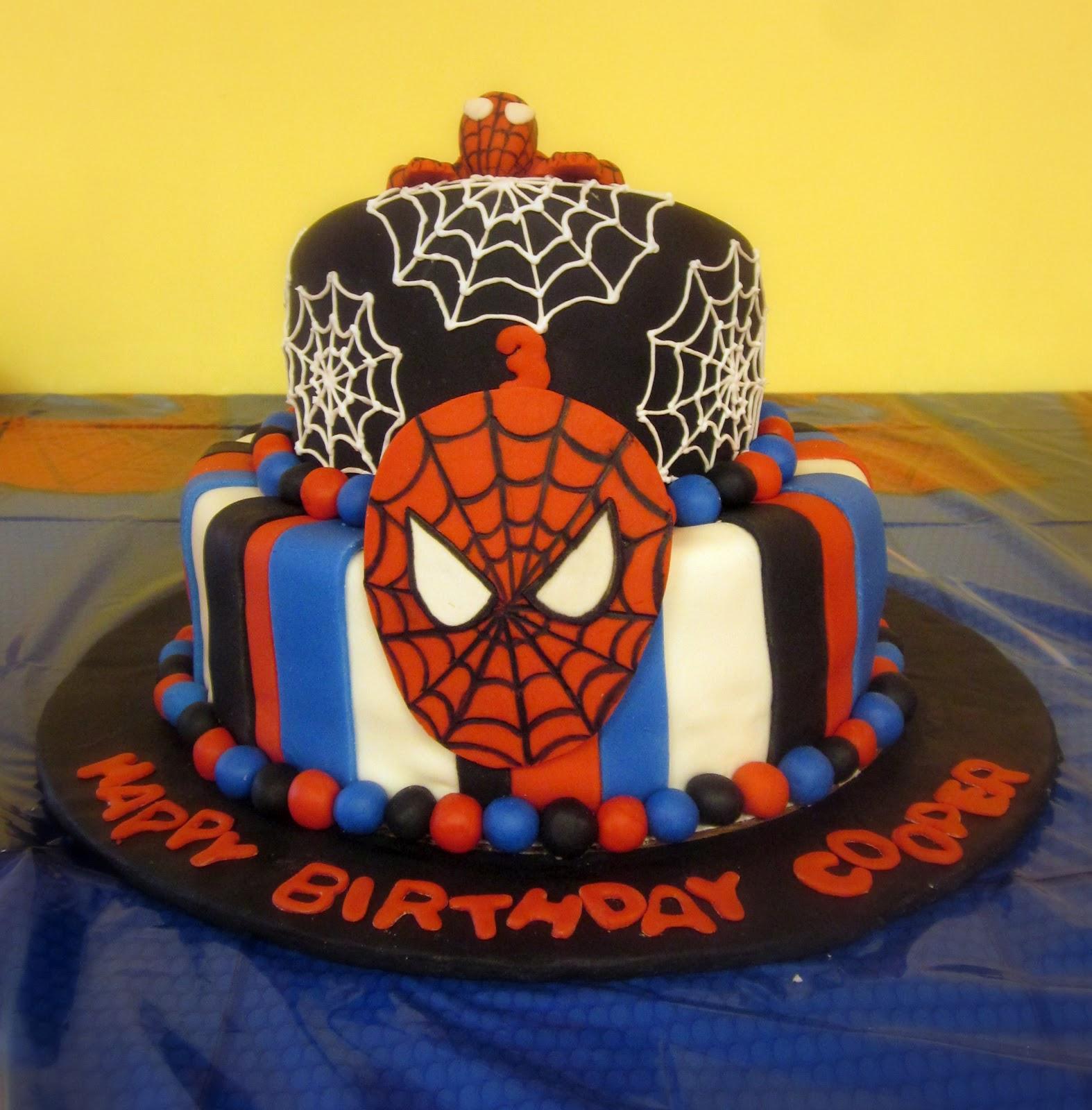 Darlin Designs Spiderman Birthday Cake