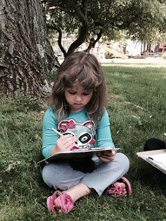 child journaling'