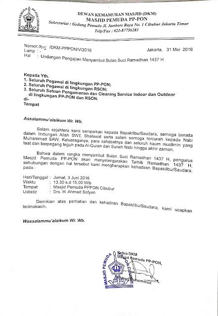 surat undangan pengajian tarhib ramadhan