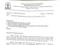 Contoh Surat Undangan Pengajian Tarhib Ramadhan