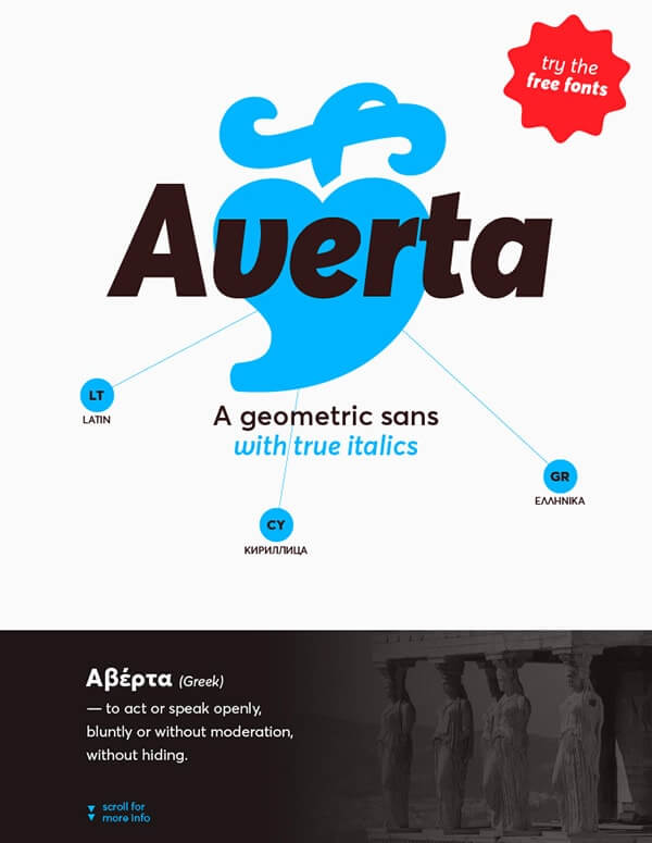 Download Gratis Sans Serif Komersial Font - Averta Typeface