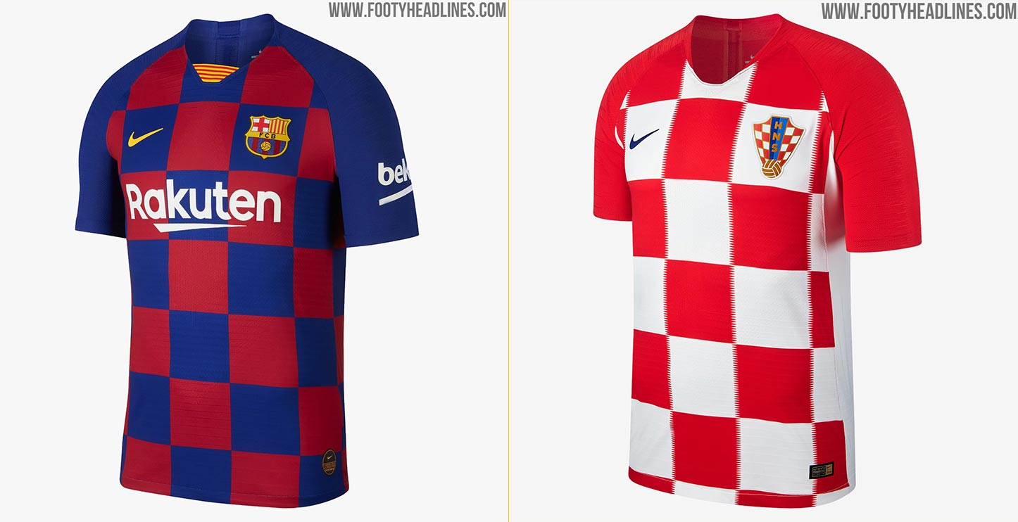 pretty nice cf68a e6de9 Every Detail Compared   Nike Croatia 2018 World Cup 2018 vs ...