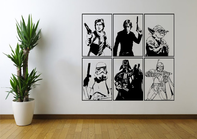 star wars art on wall