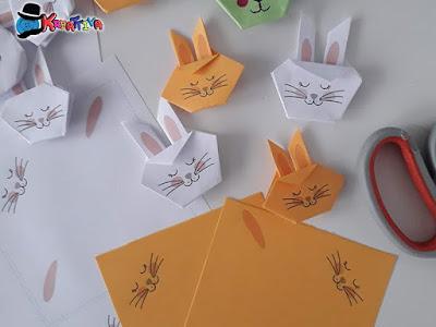 Coniglietti origami fai da te
