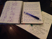 Images of writing notebooks