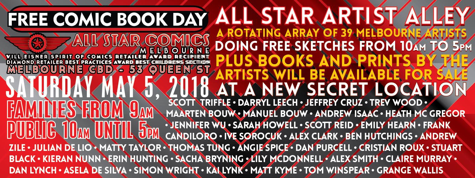 All Star Comics Melbourne: April 2018