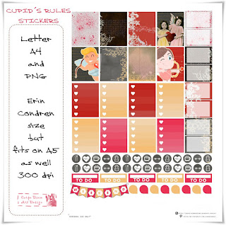 Cupid´s Rules Stickers
