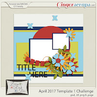 Template : April 2017 Challenge-Template by Little Rad Trio