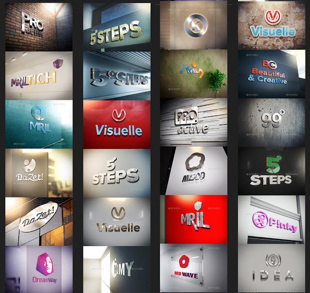 24 Mockups para logos corporativos