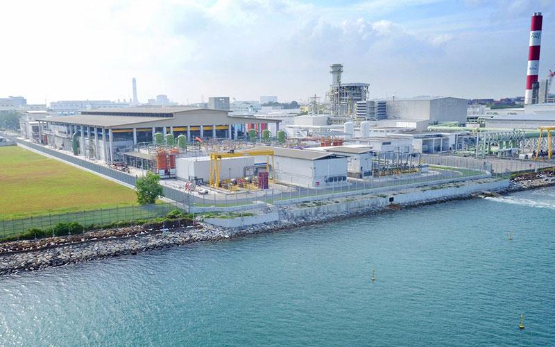 Tuas desalination plant.