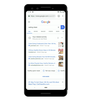 Google Your Related Activity