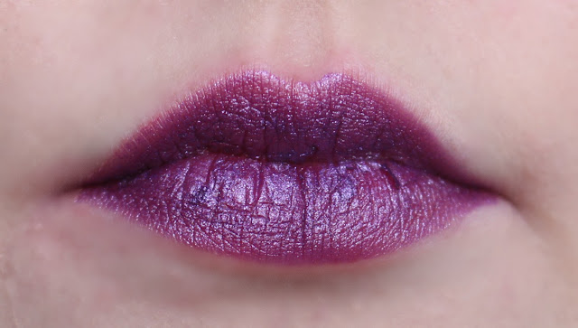 Photo of the Mad Hatter Lipstick from the Urban Decay Alice Through the Looking Glass Collection on my lips