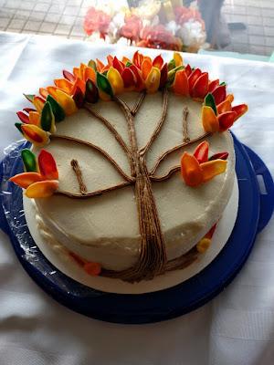 Fall Leaf Cake