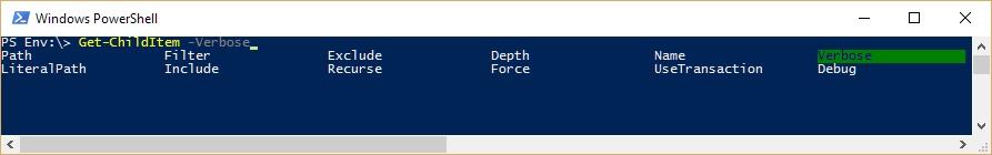 Windows PowerShell - Dobór parametrów polecenia