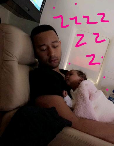 Screenshot_2016-05-20-18-20-18 Chrissy Teigen shares photo of her husband, John Legend & daughter sleeping