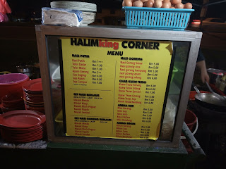 Halimking Corner aka Mee Bandung Corner's menu