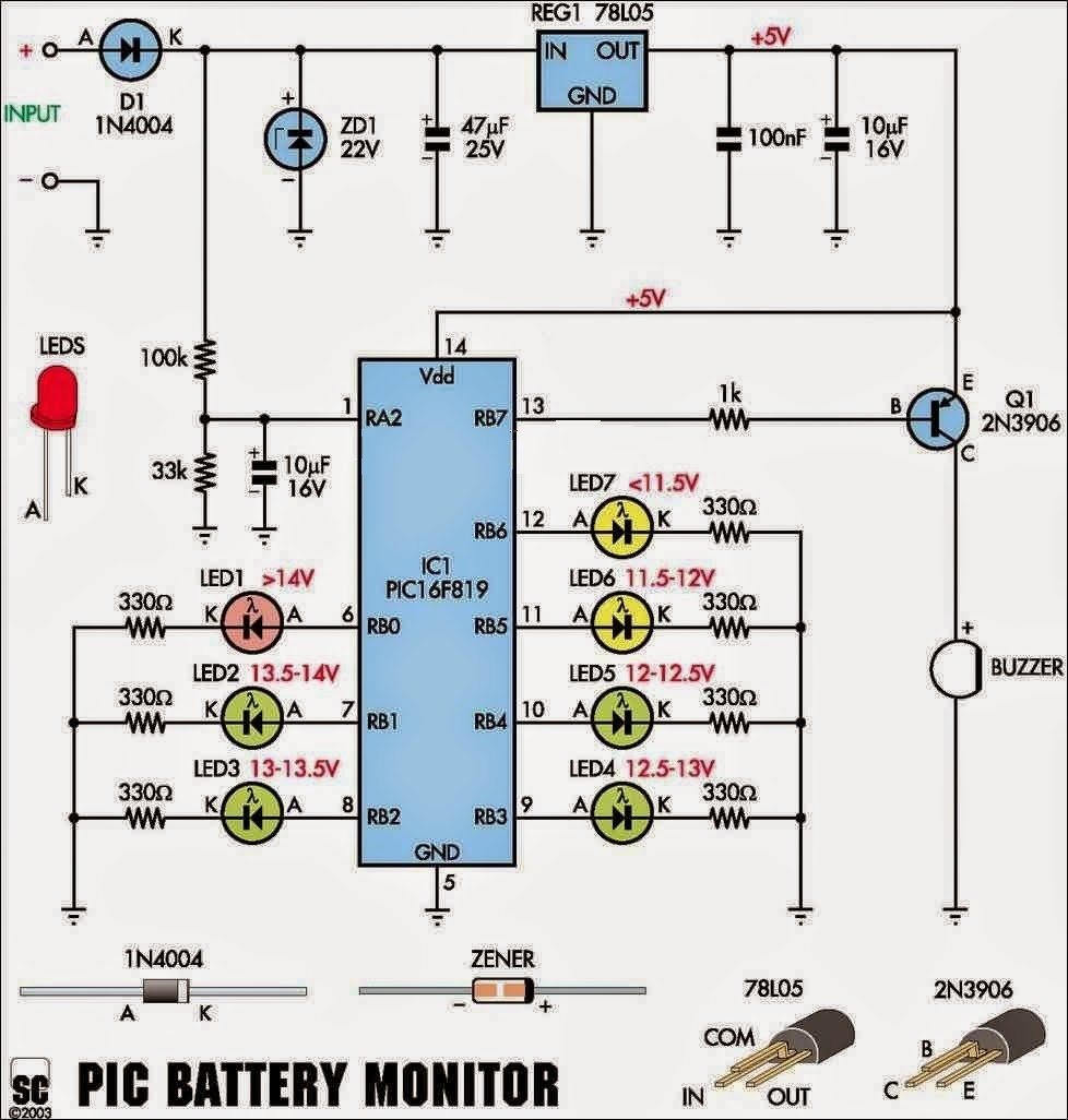 Electronics Projects A Car Battery Monitor