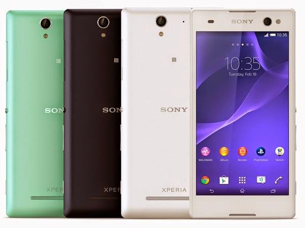 Harga Sony Xperia C3,spesifikasi Sony Xperia C3,Sony Xperia C3 dengan led flash pada kamera depan
