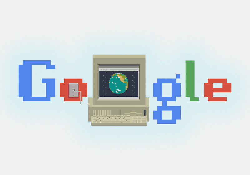 30th Anniversary of the World Wide Web - Google Home Page Doodle