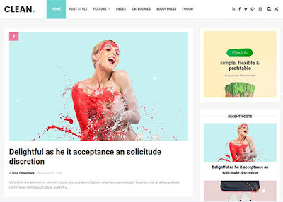 Free Download Clean Blogger Template, Seo, Fast Loading, dan Cantik