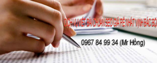 Dịch vụ viết bài Pr chuẩn seo - Nhận viết bài thuê giá rẻ