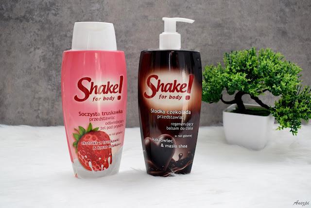 Obłędnie pachnące produkty Shake For Body: truskawkowy żel pod prysznic i czekoladowy balsam do ciała