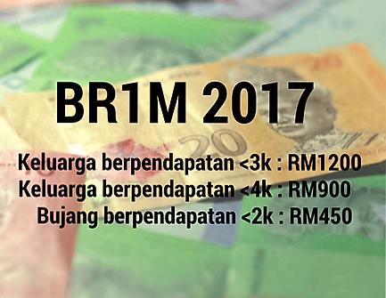 Semak Status BR1M 2017- Lulus Atau Tidak Lulus