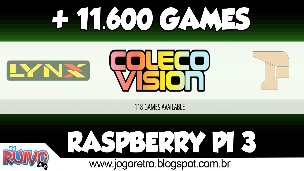 Raspberry Pi 3 - RetroPie Green Beast EmulationStation (64GB) com