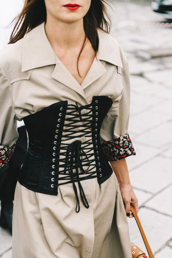 corset trend, 2017 fashion trends, 80s trend