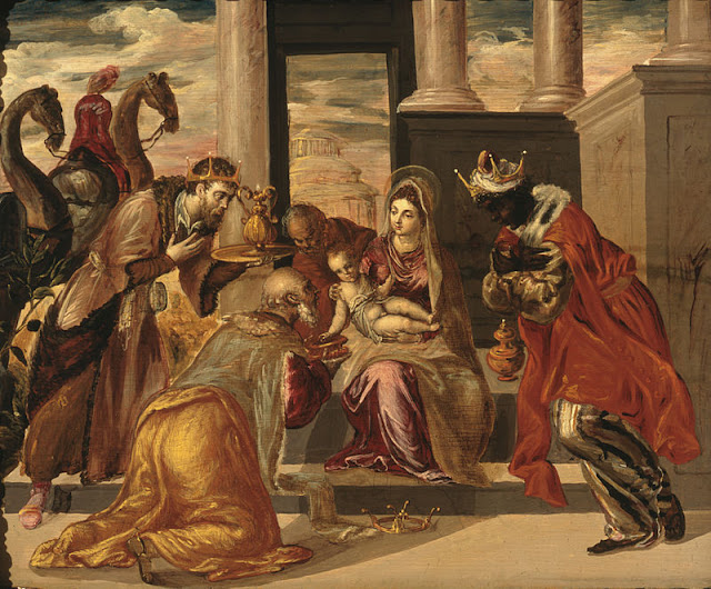 Adoration of The Magi El Greco 1568 Soumaya Museum. Mexico City.