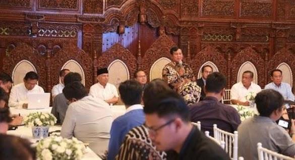 Ini 8 Poin Yang Disampaikan Prabowo saat Bertemu Media Internasional