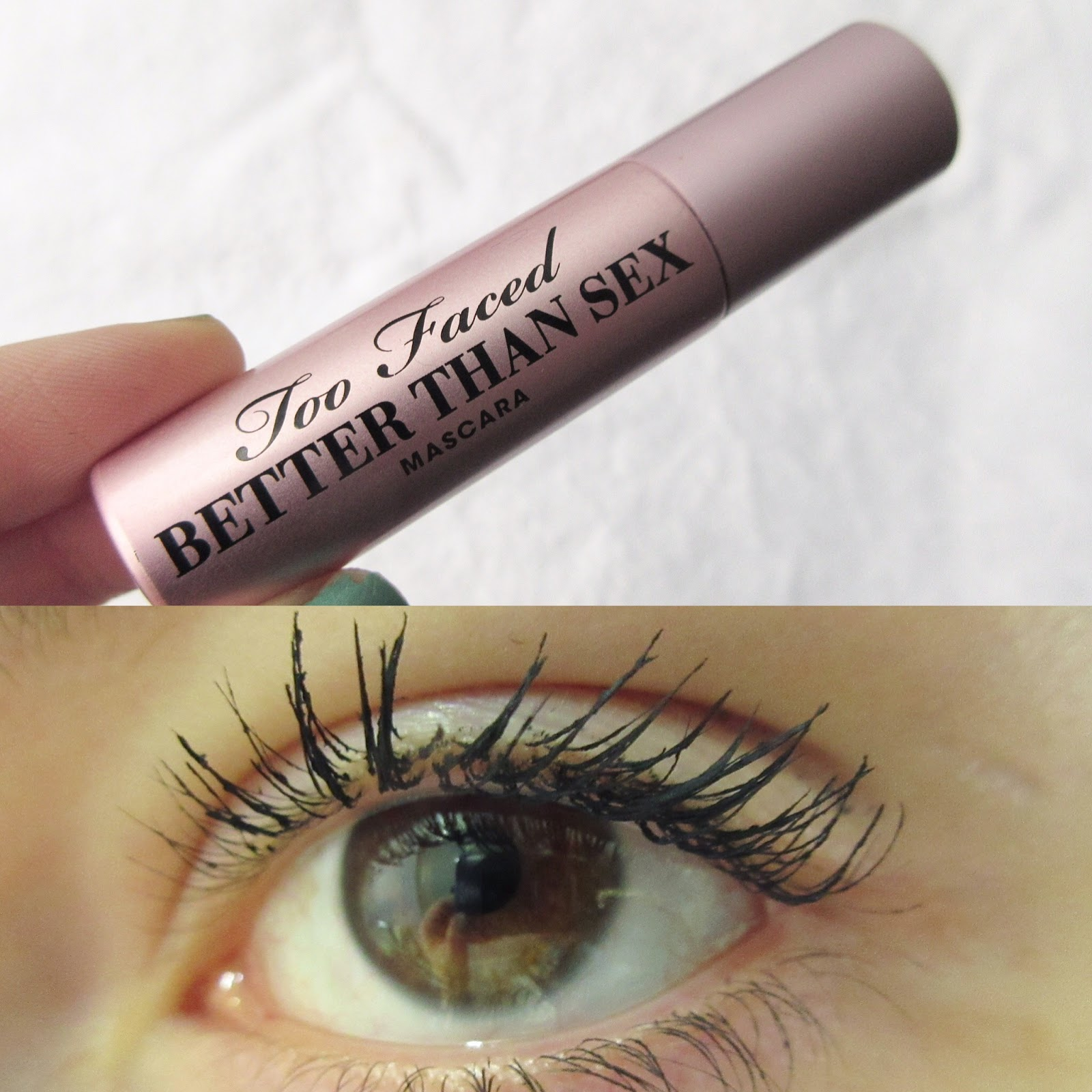 Too Faced Better Than Sex Mascara Swatch