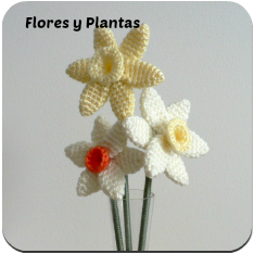 Flores y plantas amigurumi