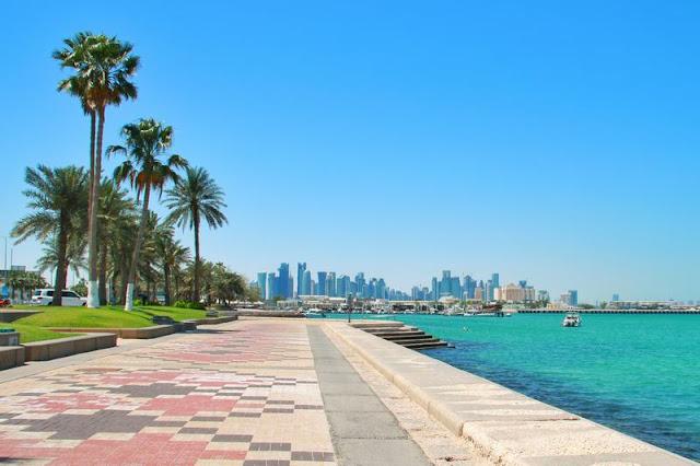 Al Corniche en Doha, Qatar