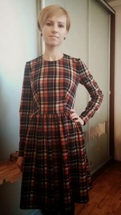 Сшить платье из шерстяной ткани