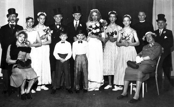 Womanless wedding, circa 1950.