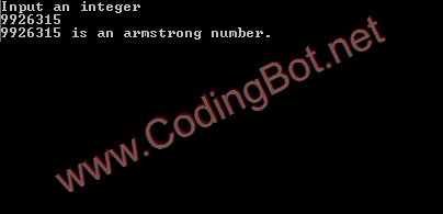 Armstrong Number C Code