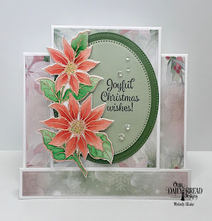 Our Daily Bread Designs Stamp/Die Duos: Joyful Christmas, Paper Collection: Christmas 2018, Custom Dies: Center Step Card, Center Step Card Layers, Pierced Ovals