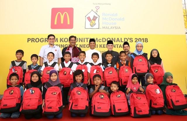 McDonald's Sumbang RM484,100 di Program Komuniti Kelantan Bantu Golongan Kurang Mampu