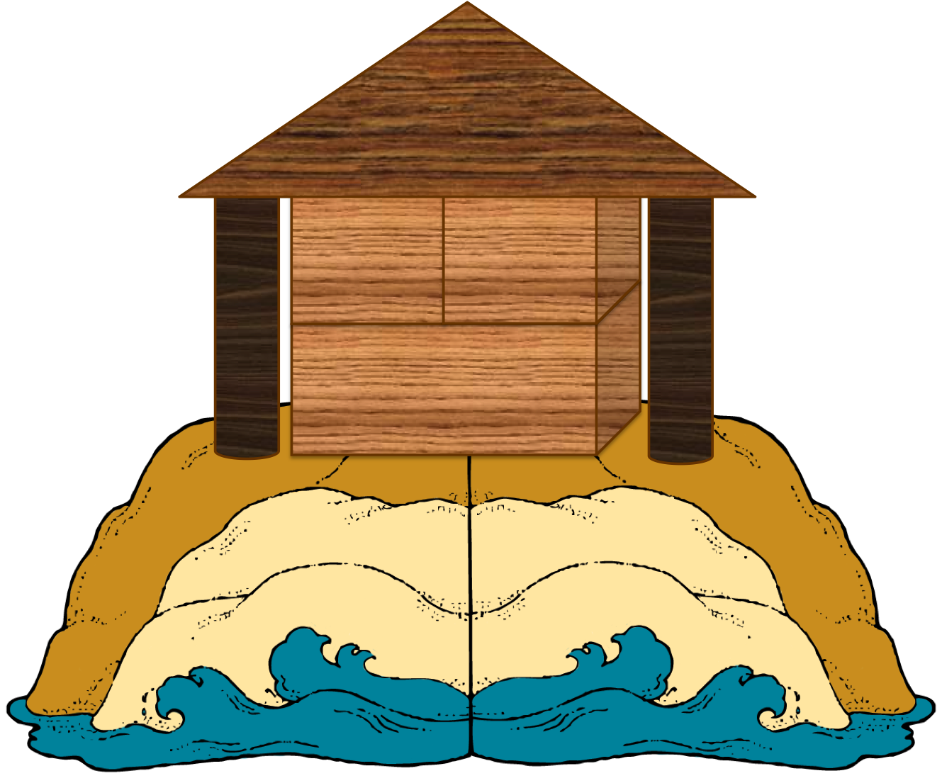 clipart house on rock - photo #41
