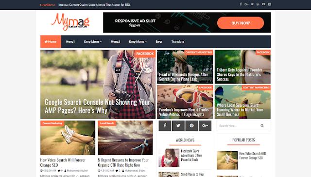 Mymag Blogger Teması