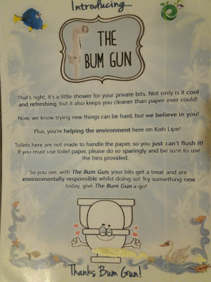 Photo of encouraging to use the bum gun