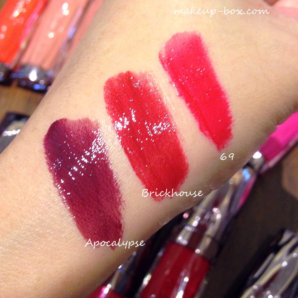 The Makeup Box: Urban Decay Revolution High-Color Lipgloss Swatches