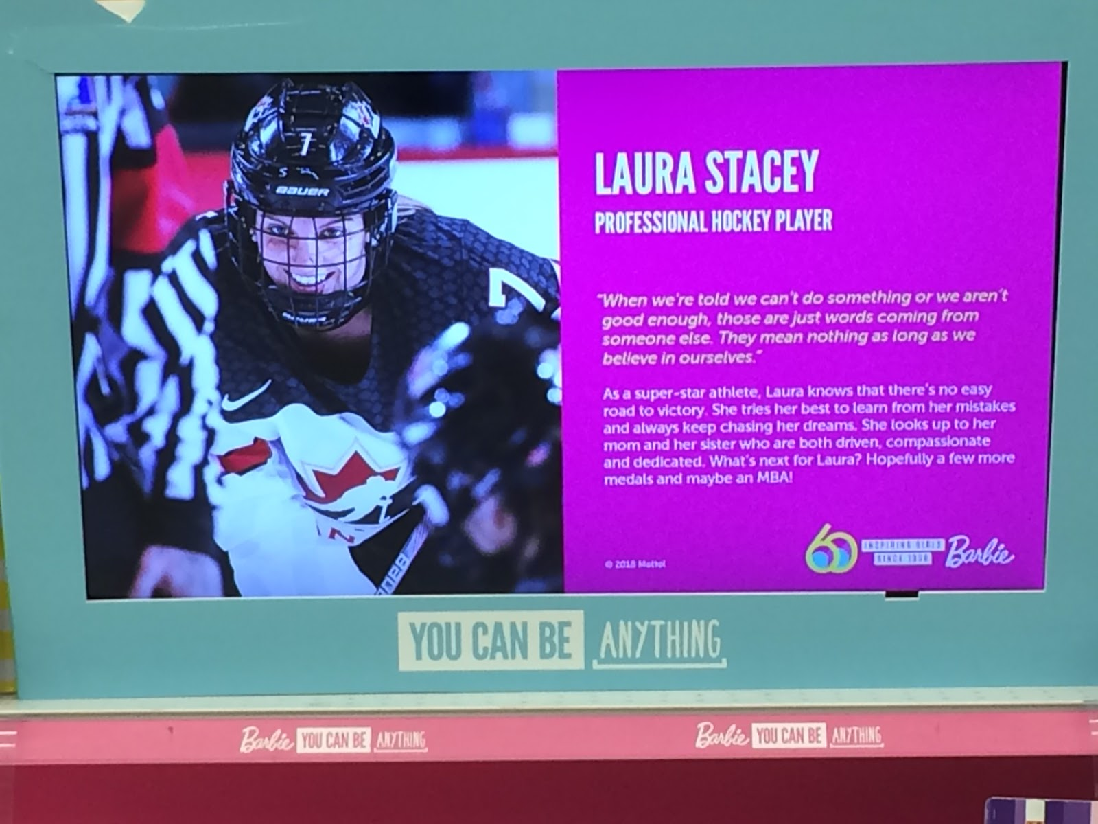 e8d4beefc6f02 Laura Stacey is one of the selected role models that Mattel has recruited  for in-store marketing, and seeing the Markham Thunder and Team Canada  forward on ...