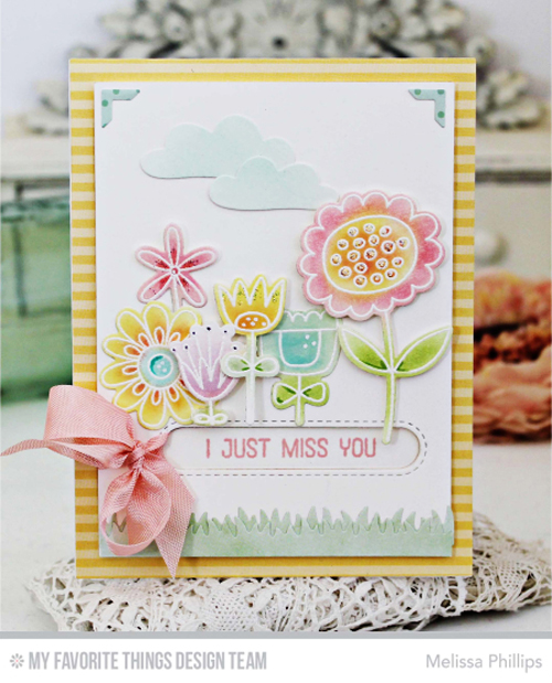 Handmade card from Melissa Phillips featuring products from My Favorite Things #mftstamps